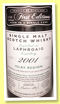 Laphroaig 15 yo 2001/2016 (56.2%, Hunter Laing, The First Editions, refill hogshead, cask #12787, 270 bottles)