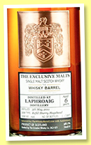 Laphroaig 6 yo 2011 (58.7%, Exclusive Malts for The Whisky Barrel, refill sherry hogshead, cask #195, 337 bottles)
