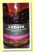 Ledaig 1996/2015 (46.3%, OB, oloroso sherry finish)