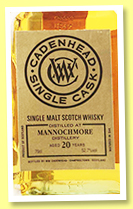 Mannochmore 20 yo 1997/2017 (52.7%, Cadenhead, Single Cask, hogshead, 276 bottles)