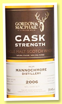 Mannochmore 2006/2017 (59.4%, Gordon & MacPhail, Cask Strength, Taiwan Exclusive, refill sherry)