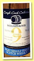William & Son 9 yo 2008/2017 (56.8%, Single Cask Collection, blended malt, bourbon barrel, 260 bottles)