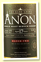 Anon Island Malt 17 yo 1999/2017 (53.8%, Abbey Whisky, refill sherry butt, 294 bottles)
