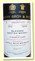 Blended Scotch Whisky 1979/2018 (53.3%, Berry Brothers for Royal Mile Whiskies, sherry butt, cask #4, 385 bottles)