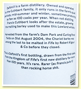 Daftmill back label