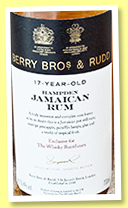 Hampden 17 yo 2000/2018 (55.4, Berry Bros & Rudd for The Whisky Barrel, Jamaica, barrel #31, 220 bottles)