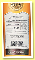 Highland Park 18 yo 1999/2018 (56%, Gordon & MacPhail, Connoisseurs Choice, Cask Strength, first fill bourbon, cask #4262, 202 bottles)