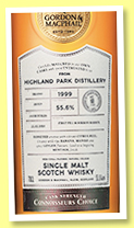 Highland Park 18 yo 1999/2018 (55.6%, Gordon & MacPhail, Connoisseurs Choice, Cask Strength, first fill bourbon, cask #4262, 210 bottles)