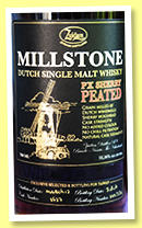 Millstone 2013/2016 (52.56%, OB, Zuidam, Netherlands, peated, PX, cask #2627, 334 bottles)