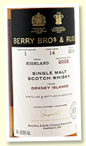 Orkney Islands 14 yo 2002/2018 (56.8%, Berry Brothers, first fill sherry butt, cask #1)