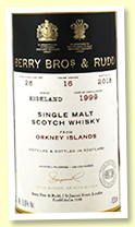 Orkney Islands 16 yo 1999/2018 (53.6%, Berry Brothers, refill butt, cask #28)