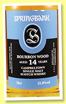 Springbank 14 yo 2002/2017 (55.8%, OB, fresh and refill bourbon, 9000 bottles)