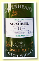 Strathmill 11 yo 1980/1992 (60.6%, Cadenhead Authentic Collection)