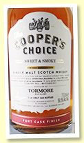 Tormore Port Finish 'Sweet & Smoky' (56.5%, Cooper's Choice, bottled 2017, Port Finish, 360 bottles)