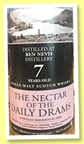 Ben Nevis 7 yo 2010/2018 (59.3%, The Nectar of the Daily Drams)