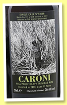 Caroni 17 yo 2000/2017 (70.4%, The Whisky Exchange, cask #R4008, 238 bottles)