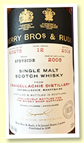 Craigellachie 2005/2018 12 yo (55.9%, Berry Brothers for The Whisky Shop Dufftown, cask #900275)