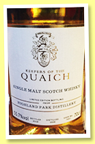 Highland Park 1998/2018 (55.7%, Keepers of the Quaich, cask #7667, refill American hogshead, 297 bottles)