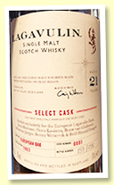 Lagavulin 21 yo 1997/2018 (56.6%, OB for 'European Lagavulin Fans', cask #0001, European oak, 158 bottles)