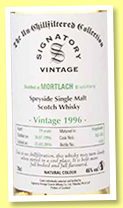 Mortlach 19 yo 1996/2016 (46%, Signatory Vintage, Un-chillfiltered Collection, casks #182-183)