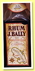 J. Bally 1924 (45%, OB, Martinique, agricole, +/-1985)