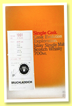 Bruichladdich 25 yo 1991/2017 (48.8%, OB for CSW China, French oak, cask # 15/287-22, 276 bottles)