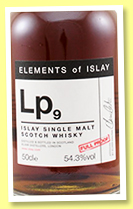Lp9 1998/2018 (54.3%, Elixir Distillers, Elements of Islay, ex-PX butt)