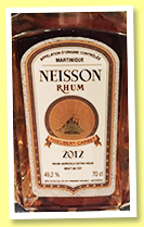 Neisson 2012/2017 (49.2%, OB, for 4eme Salon du Rhum de Belgique, 250 bottles)