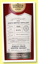 North British 28 yo 1990/2018 (61%, Gordon & MacPhail, Connoisseurs Choice, first fill sherry puncheon, cask #73847, 181 bottles)
