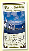 Port Charlotte 4 yo 2001/2005 (61.4%, OB / Private bottling, bloodtub sherry cask, 39 bottles)