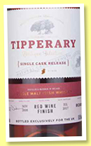 Tipperary 8 yo (59.5%, OB, Irish, red wine cask finish, cask #RC00117, 2018)