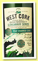 West Cork 'Glengarrif Series' (43%, OB, Irish, single malt, Peat Charred Cask Finish, +/-2018)