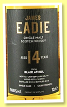 Blair Athol 14 yo 2004/2018 (59.8%, James Eadie, refill sherry, cask #99, 529 bottles)