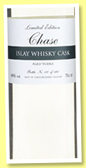 Chase 'Islay Whisky Cask' (46%, OB, cask aged vodka, England, +/-2018)