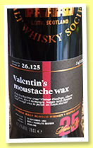 Clynelish 25 yo 1993/2018 (47.7%, Scotch Malt Whisky Society, #26.125, 'Valentin's Moustache Wax', refill bourbon barrel, 175 bottles)