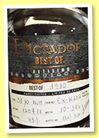 Dictador 38 yo 'Best of 1980' (45%, OB, Colombia, cask #EX-W232, 300 bottles, 2018)