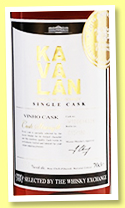 Kavalan 2012/2018 'Vinho Barrique' (53.2%, OB for The Whisky Exchange, Taiwan, cask # W120614028, 180 bottles)