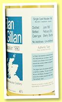 Macallan 13 yo 1990/2004 (46%, Eilan Gillan, France, sherry/bourbon casks, 190 bottles)