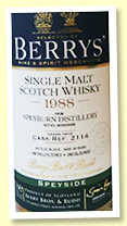 Speyburn 1988/2015 (52.3%, Berry Brothers, cask #2114, hogshead)