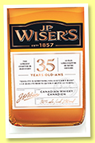 J.P. Wiser's 35 yo (50%, OB, Northern Border Collection, Canadian, 2017)