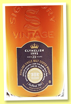 Clynelish 23 yo 1995/2019 (55.4%, Signatory Vintage for the Whisky Exchange's 20th Anniversary, refill sherry butt, cask #11252, 550 bottles)