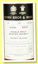 Orkney 15 yo 2002/2019 (56.8%, Berry Bros & Rudd for The whisky Barrel, sherry butt, cask #3, 180 bottles)