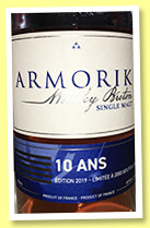 Armorik 10 yo 'Batch 2' (46%, OB, 2,000 bottles, 2019)