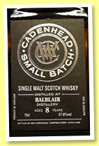 Balblair 8 yo 2011/2019 (57.8%, Cadenhead, Small Batch, 648 bottles)
