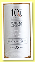 Benriach 28 yo (48.8%, The Whisky Show 10th Anniversary, 106 bottles, 2018)