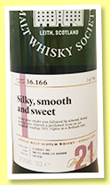 Benrinnes 21 yo 1997/2019 (61.5%, Scotch Malt Whisky Society, #36.166, Silky, smooth and sweet, 2nd fill bourbon barrel, 194 bottles)