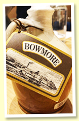 Bowmore 1955/1974 'For 12th September 1974' (unknown ABV, OB, ceramic half flagon)