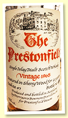 Bowmore 22 yo 1965 (43%, OB for Prestonfield House, cask #47)