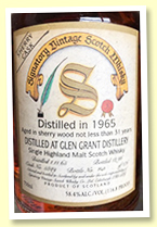 Glen Grant 31 yo 1965/1996 (58.4%, Signatory Vintage for USA, cask #5849, sherry, 176 bottles)