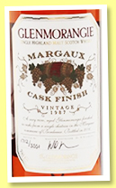 Glenmorangie 1987/2006 'Margaux Cask Finish' (46%, OB, 3551 bottles)